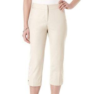 Rafaella Women's Double-Weave Slim Capri Pant